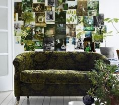 A shoot Tina Hellberg created Green Interiors with Idha Lindhag for Elle Interieur. so much great inspiration here. Interior Inspiration, Design Inspiration, Bathroom Inspiration, Interior Ideas, Living Spaces, Living Room, Ideas Geniales, Green Rooms, Green Walls