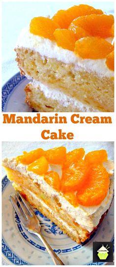 Mandarin or Pineapple Fresh Cream Cake Truly refreshing and bursting with flavour! #cake #mandarin #pineapple #baking