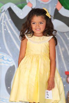 Princess Girls Silk dress in yellow