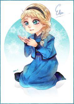 Little Elsa Disney Frozen by sayuko on deviantART