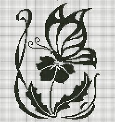 Flower and butterfly cross stitch