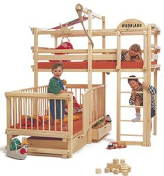 would love to have this as my infant gets older!  Can't seem to find a retailer in the US though.  Play Bunk Beds for Large Families from Woodland | Kidsomania