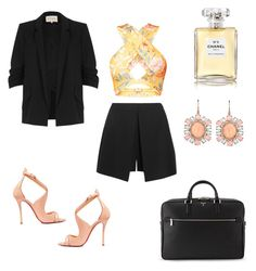 Chic and professional by savvinabitz on Polyvore featuring polyvore mode style River Island Alexander McQueen Christian Louboutin Serapian Irene Neuwirth Chanel fashion clothing