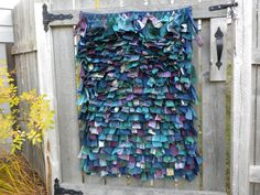 Handwoven Wallhanging in Blue Rya Knots by FringeFiber on Etsy, $85.00