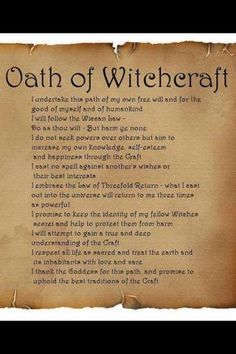Wicca is a neopagan religion based on ancient pagan beliefs. It's an earth-based religion that believes in a God and Goddess as representative of. Witch Spell Book, Witchcraft Spell Books, Magick Spells, Witchcraft History, Magick Book, Pagan Witchcraft, Wiccan Magic, Wiccan Witch, Witch Rituals