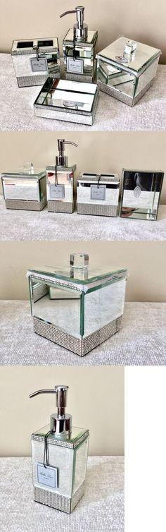 Bath Accessory Sets 176990  Bella Lux 4Pc Mirror Rhinestone Bathroom Set    Dispenser SoapBath Accessory Sets 176990  17 Pc Bathroom Set Snowman Snowflake  . Rhinestone Bathroom Accessories. Home Design Ideas