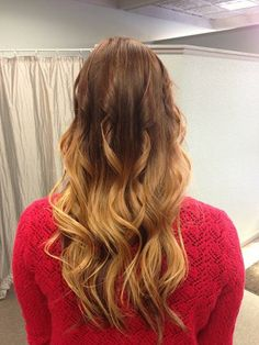 Ombre Hair, brunette to blonde