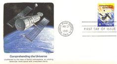 1981 Space Achievements Benefiting Mankind Comprehending the Universe Hubble Space Telescope, First Day Covers, Universe, Earth, Stamps, Ebay, Moon, Seals, The Moon