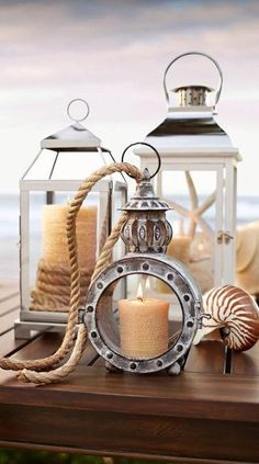 These candles by the ocean really bring a sense of tranquility to your surroundings.