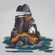 Cozy Places by Ekaterina Boguslavskaya Kunst Inspo, Art Inspo, Art And Illustration, Bild Tattoos, Guache, Arte Horror, Environment Concept Art, Gouache Painting, Art Reference