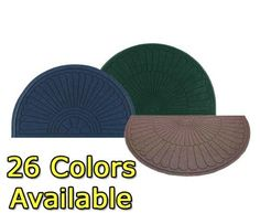Half-Circle Waterhog Grand Premier Door Mats 6' x 3.3' by American Floor Mats - Waterhog Mats. $126.67. Half-Oval Grand Premier Waterhog Entrance Mats are effective for trapping water and dirt while adding style to any entrance.  Raised-oval pattern construction effectively removes dirt and moisture.  The surface is an anti-static polypropylene fabric that dries quickly and won't fade or rot and makes these mats great for outside.  Clean with vacuum, extraction...