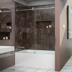 dreamline enigmax 56 to 59 in frameless sliding tub door by dreamline