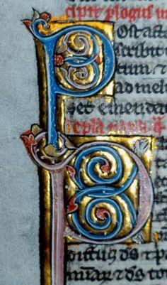BIBEL-HANDSCHRIFT-BLATT-PERGAMENT-PARIS-FRANKREICH-PERLBIBEL-GOLD-INITIALE-1270
