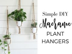 Simple DIY Macrame Plant Hanger with Video Tutorial - Farmhouse on Boone