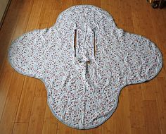 Car Seat Blanket...I tried my own version of this and I like how this one has actual measurements versus going to walmart and trying to get them in a display carseat. Will def. do this for my sister...