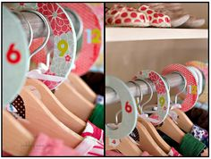 Make your own size tags to keep clothing organized