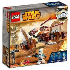lego star wars attack of the clones hailfire droid exclusive set 75085