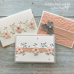 Thoughtful Blooms Stamp Set & Small Blooms Punch (LollyPop Paper and Ink) Wallpapers Whatsapp, Stampin Pretty, Stampin Up, Business Thank You Cards, Quick Cards, Cards To Make, Diy Note Cards, Thank You Note Cards, Making Cards