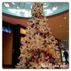 Art of Animation Resort Christmas Tree in the lobby of Animation Hall during Christmas 2012 at Walt Disney World in Orlando, FL