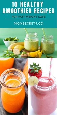Are you looking for healthy weight loss drinks? I made a research on the internet and today I share with you my favorites WEIGHT LOSS smoothies recipes. #weightloss #loseweight #smoothies #healthybreakfast