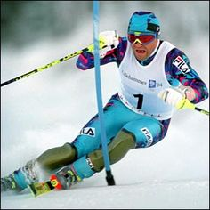 Alberto Tomba ~ Italian Alpine Ski Racer---when I first fell in love with thighs, sigh Slalom Skiing, Alpine Skiing, Snow Skiing, Winter Olympic Games, Winter Olympics, Winter Games, Winter Fun, World Cup Skiing, The Sporting Life