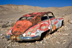 Abandoned car, Harrisburg ghost town, Death Valley, CA. 2008