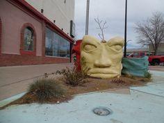 Pueblo Pot Head Photo: Dee Santillanes Pueblo Colorado, Murals Street Art, Sculpture Art