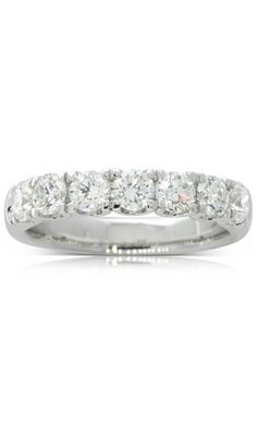 18ct white gold 1.30ct diamond band