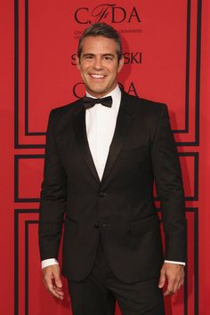 Host of the 2013 #CFDAawards, Andy Cohen