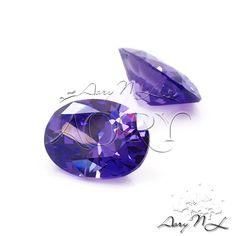 1pcs AAAAA 8x6mm Violet Cubic Zirconia Diamond Cut Oval by AoryNL