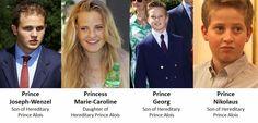 Alois, Hereditary Prince of Liechtenstein   Family of Prince Hans-Adam II and Family of Hereditary Prince Alois