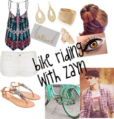 """Bike Riding With Zayn"" by mackenzishankle ❤ liked on Polyvore"