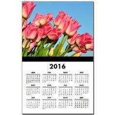 Pink perfect tulips Calendar Print on CafePress.com