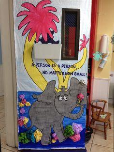 Horton Hears a Who classroom door for Dr. Seuss month. & Horton Hears a Who door decoration | Dr. Seuss | Pinterest | School ...