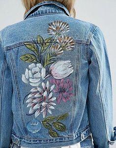 www.wannabesuburbanrockstar.com   Glamorous Petite Painted Denim Jacket - Asos