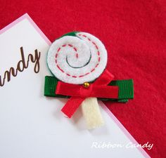 holiday lollipop hair clip