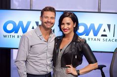 Demi Lovato with Ryan Secreast at 102.7 KIIS FM Studios in California - July 1st
