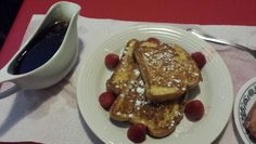 French toast with homemade syrup Homemade Syrup, Pancakes, French Toast, Cooking, Breakfast, Food, Baking Center, Eten, Meals