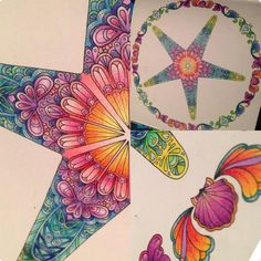 Latest creation #adultcoloring #coloringbook #lostocean #johannabasford #star #prismacolor Lost Ocean, Johanna Basford Coloring Book, Doodles, Colouring Techniques, Coloring Book Pages, Copics, Colorful Drawings, Doodle Art, Enchanted