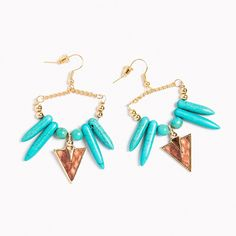 Tribal Arrowhead Earrings - only $4.95 - take additional 30% off with code SAVE30