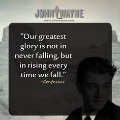 johnwayne Cancerfoundation quotes Great Quotes, Quotes To Live By, Me Quotes, Funny Quotes, John Wayne Biography, Chemistry Between Two People, John Wayne Quotes, Wayne Family, Ever Quote