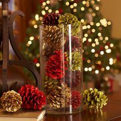 Новогодний декор из шишек - Ярмарка Мастеров - ручная работа, handmade