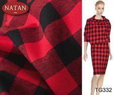 Elegancka Tkanina Żakiet Kostium Kratka 42 zł /mb Grubsza, elegancka tkanina ubraniowa w czarno czerwoną kratkę Tkanina bardzo dobrze wykończona. Tkanina miła w dotyku. Szerokość: 150cm. Gramatura: 515 g/mb.  Skład: 66% bawełna, 34% wiskoza  Zastosowanie: żakiet, kostium, garnitur, spódnica, sukienka, płaszczyk, kurtka, itp.