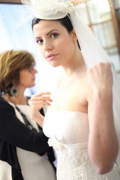 La prova dell'abito nell'atelier di www.cinziaferri.com