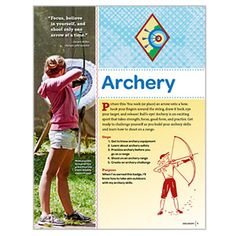 NEW! GIRLS' CHOICE CADETTE ARCHERY BADGE REQUIREMENTS