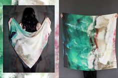 Shop Cisthene: This Is Your Chance To Make Up With Mother Nature #refinery29  http://www.refinery29.com/cisthene#slide12  Cisthene Fluorite Silk Scarf, $225, available at Cisthene.