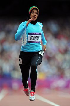 Tahmina Kohistani (Afghanistan) - Talk about breaking barriers! Barriers of war, culture, and hijab bans in sport. This sprinter ran against stifling culture, war-torn conditions and insisted on hijab when competing. Inspirational!