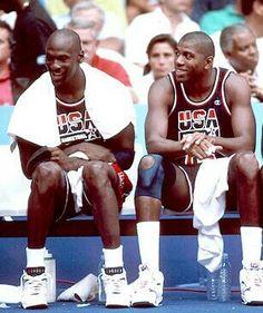 Michael Jordan and Magic Johnson
