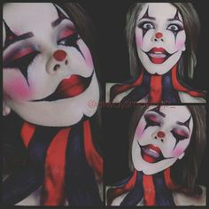 Jester/harlequin makeup by AllWaysMakeup. #makeup #jester #harlequin #halloween                                                                                                                                                                                 More