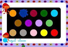 """""""Colores"""" es un sencillo juego para discriminar los colores y asociarlos con su nombre."""